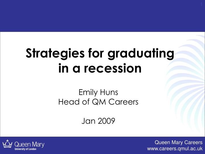 strategies for graduating in a recession n.