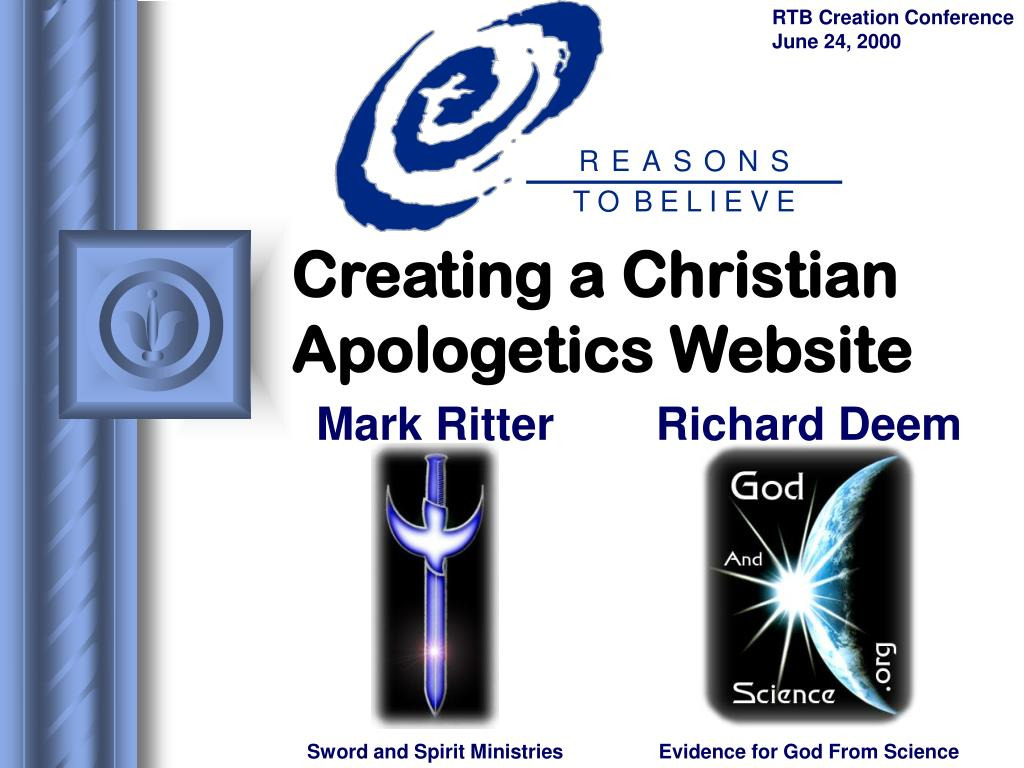 creating a christian apologetics website l.