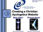creating a christian apologetics website