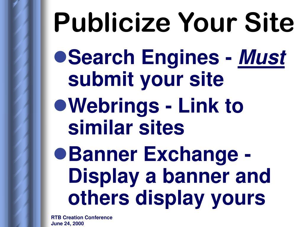 Publicize Your Site