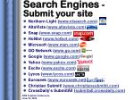 search engines submit your site