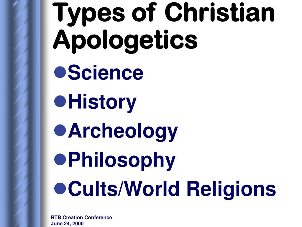 Types of Christian Apologetics