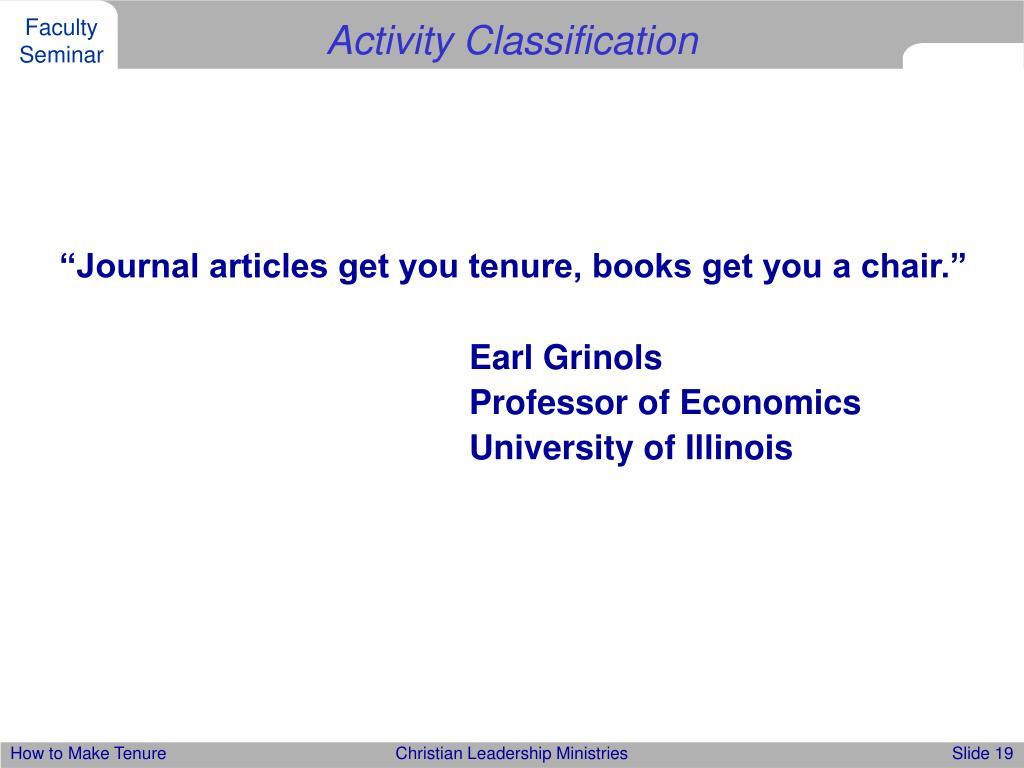 Activity Classification