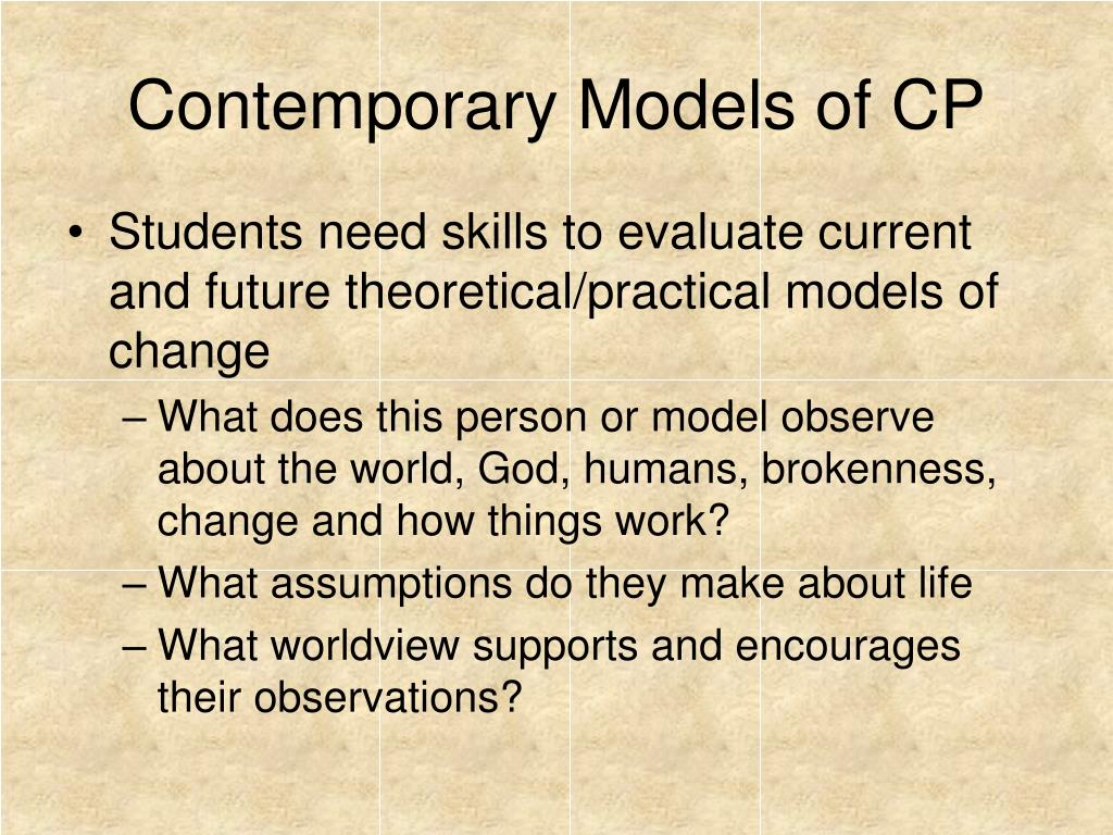Contemporary Models of CP