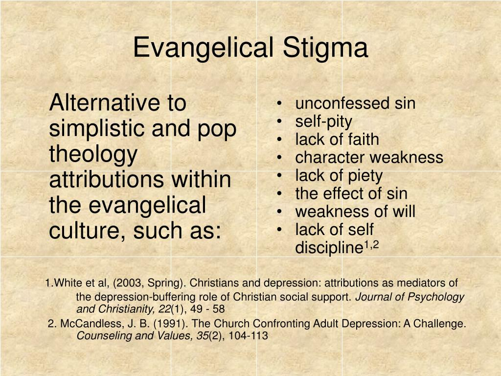 Alternative to simplistic and pop theology attributions within the evangelical culture, such as: