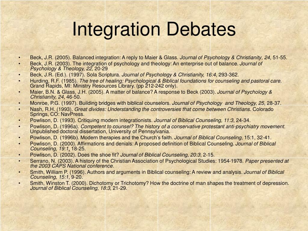 Integration Debates