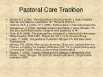 pastoral care tradition