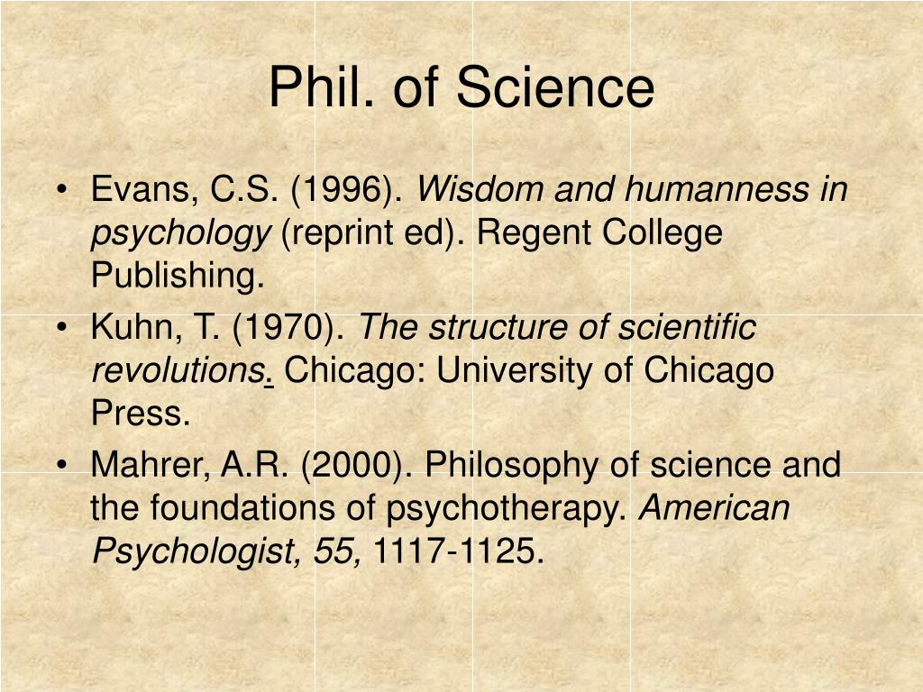 Phil. of Science