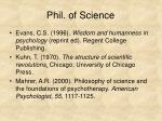 phil of science