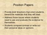 position papers31