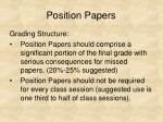 position papers33
