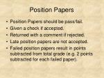 position papers34