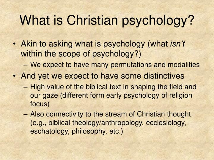What is christian psychology