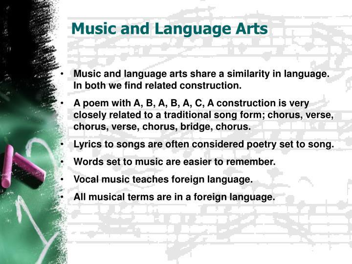 Music and Language Arts