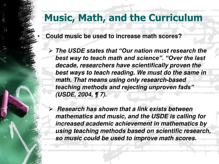 Music, Math, and the Curriculum