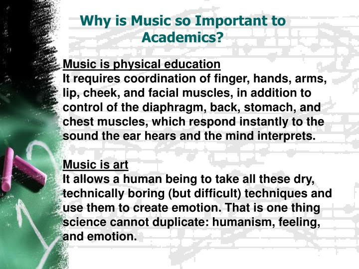 Why is Music so Important to Academics?