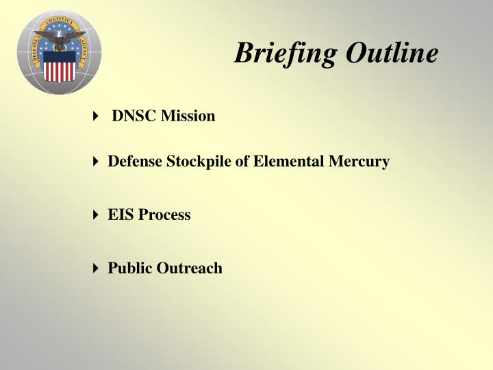 Briefing outline