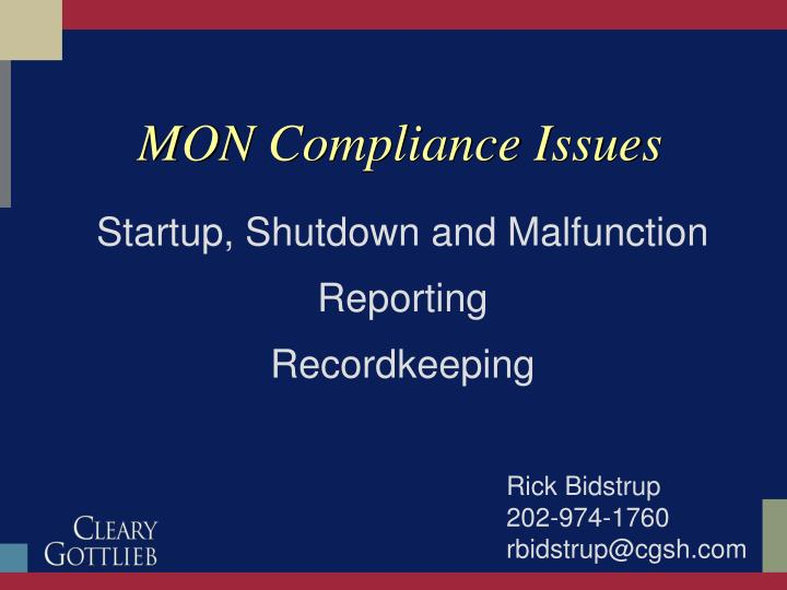 mon compliance issues n.