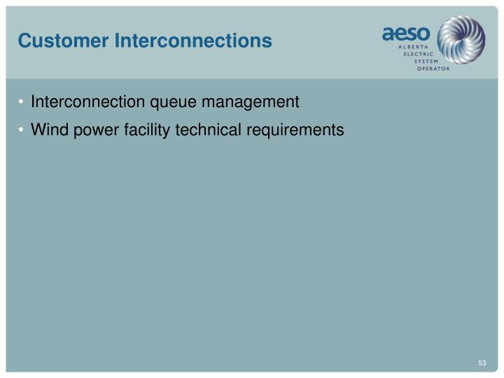 Customer Interconnections