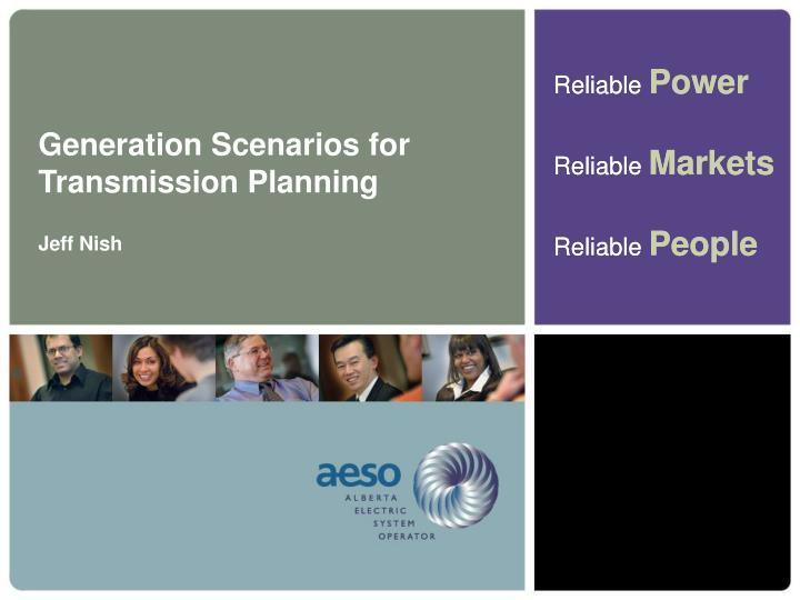 Generation Scenarios for Transmission Planning