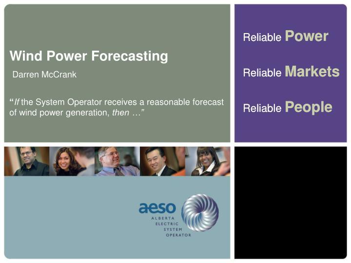 Wind Power Forecasting