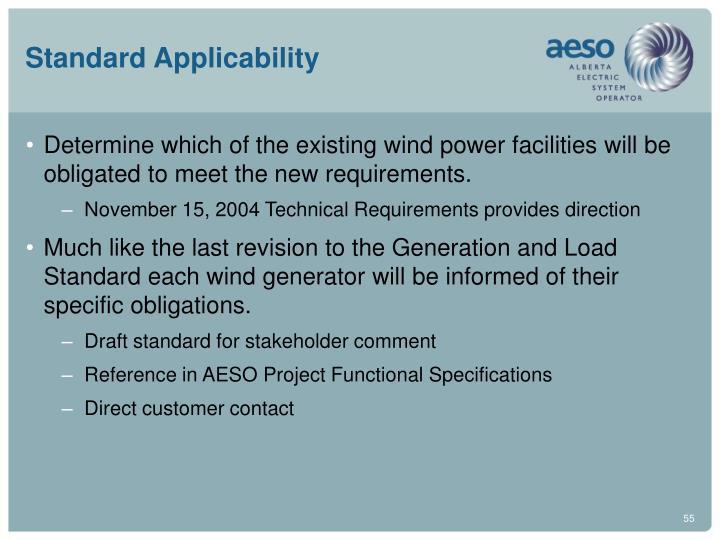 Standard Applicability