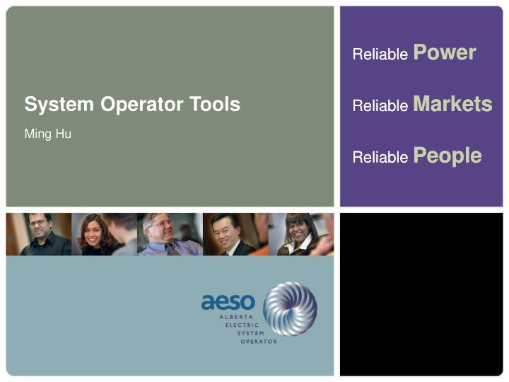 System Operator Tools