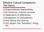 effective cultural competence the dance