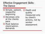 effective engagement skills the dance
