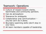 teamwork operations