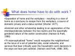 what does home have to do with work