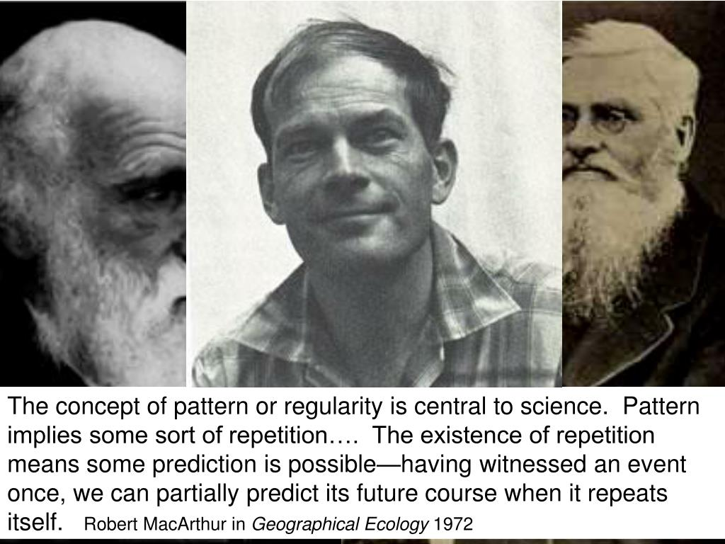 The concept of pattern or regularity is central to science.  Pattern implies some sort of repetition….  The existence of repetition means some prediction is possible—having witnessed an event once, we can partially predict its future course when it repeats itself.