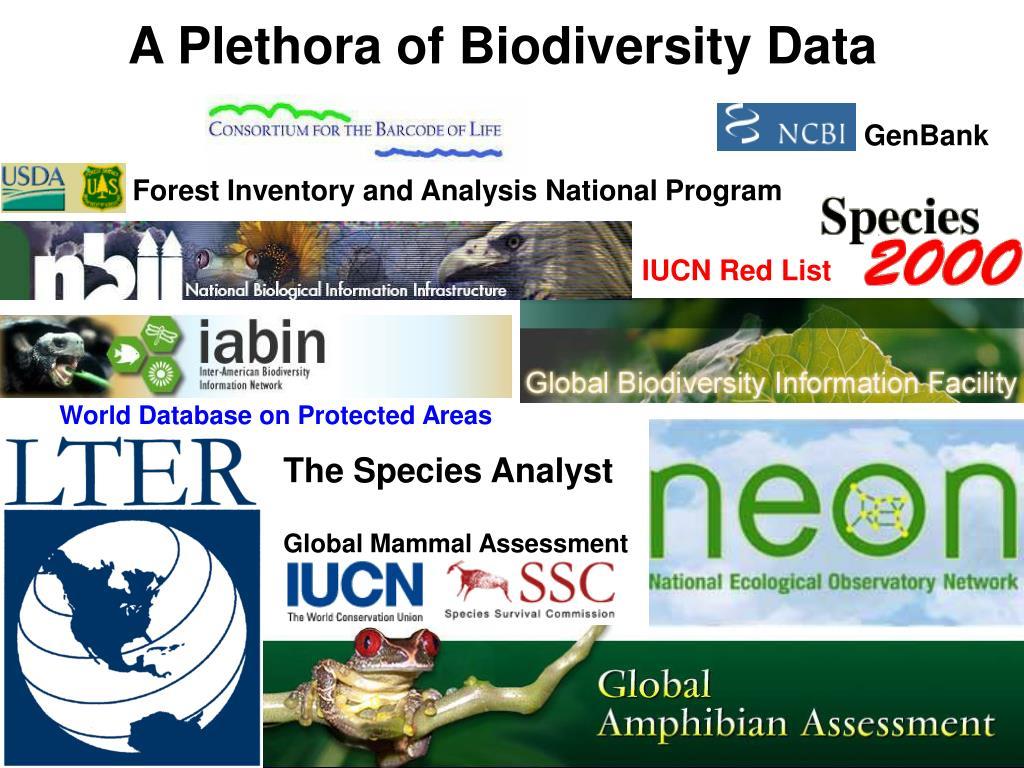 A Plethora of Biodiversity Data