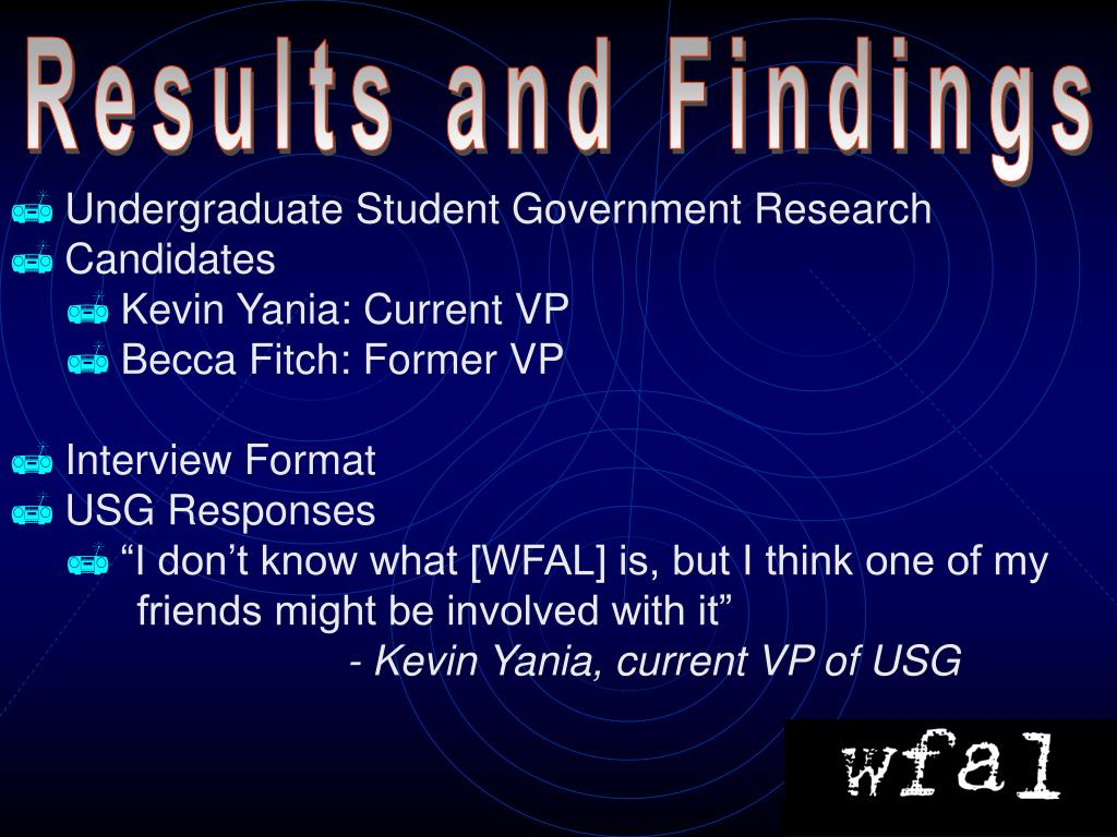 Results and Findings