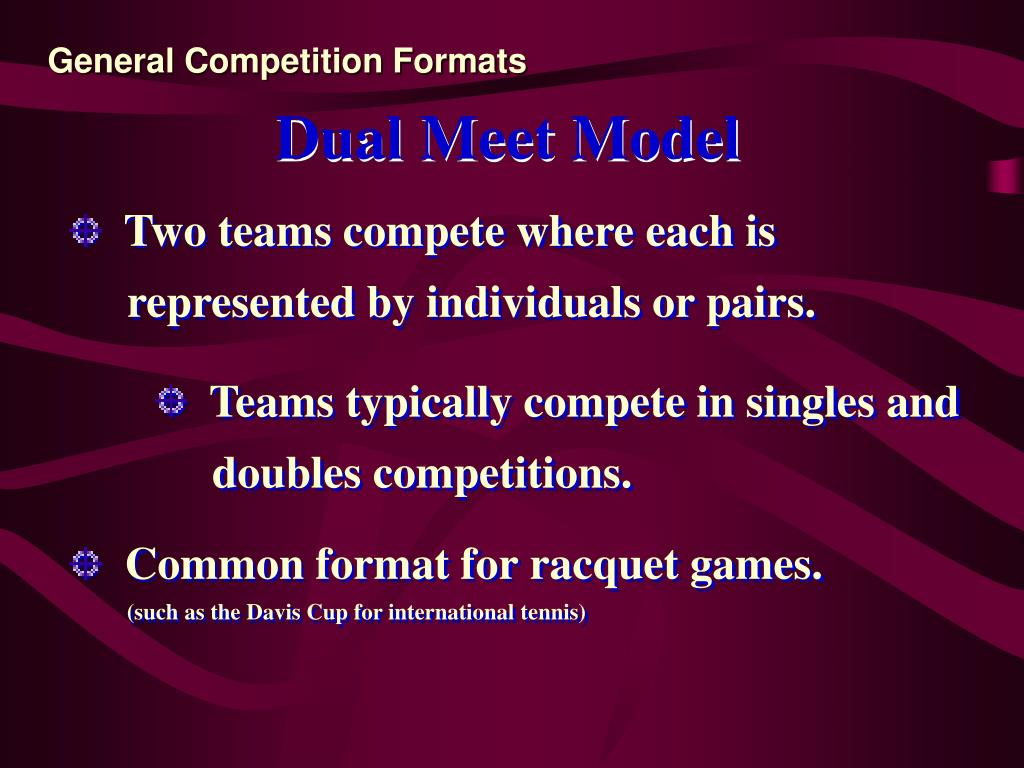 General Competition Formats
