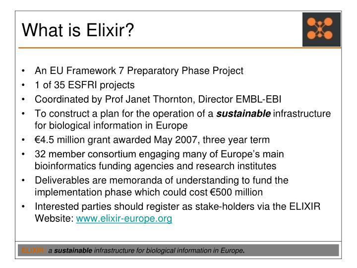 What is Elixir?