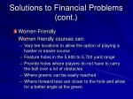 solutions to financial problems cont12