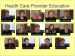 health care provider education