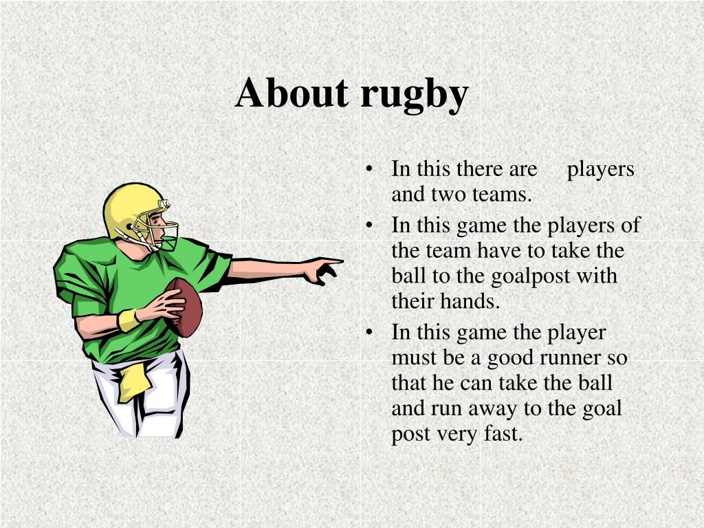 About rugby