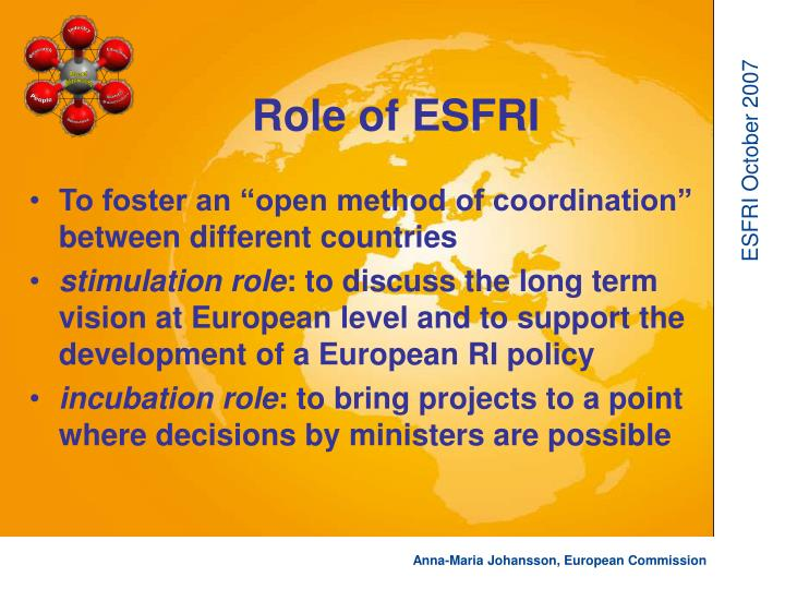 Role of esfri