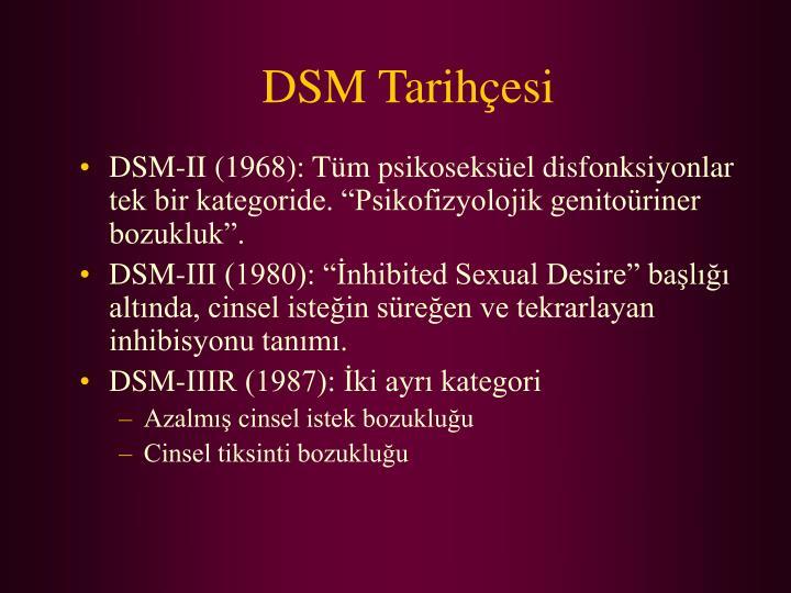 DSM Tarihçesi
