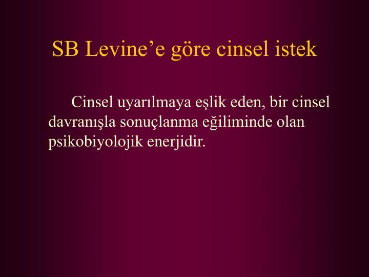 SB Levine'e göre cinsel istek