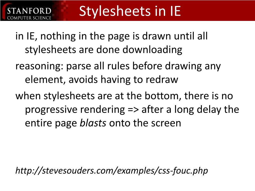 Stylesheets in IE
