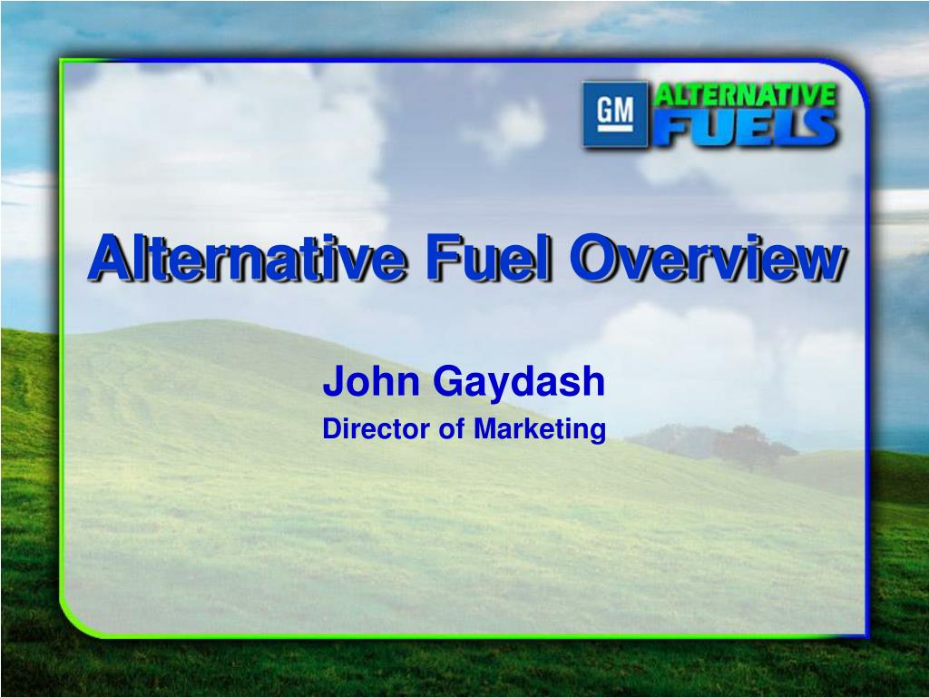 Alternative Fuel Overview