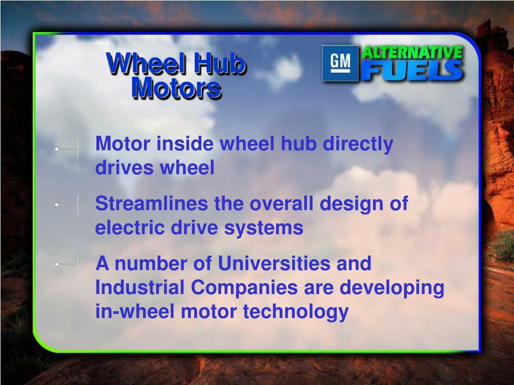 Wheel Hub Motors