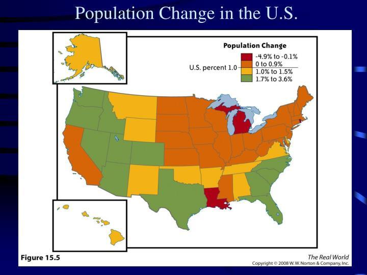 Population Change in the U.S.
