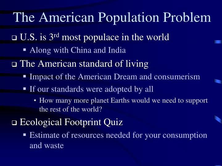 The American Population Problem