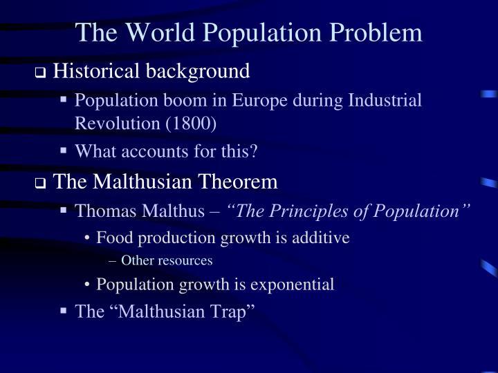 The World Population Problem