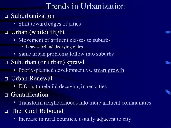 Trends in Urbanization