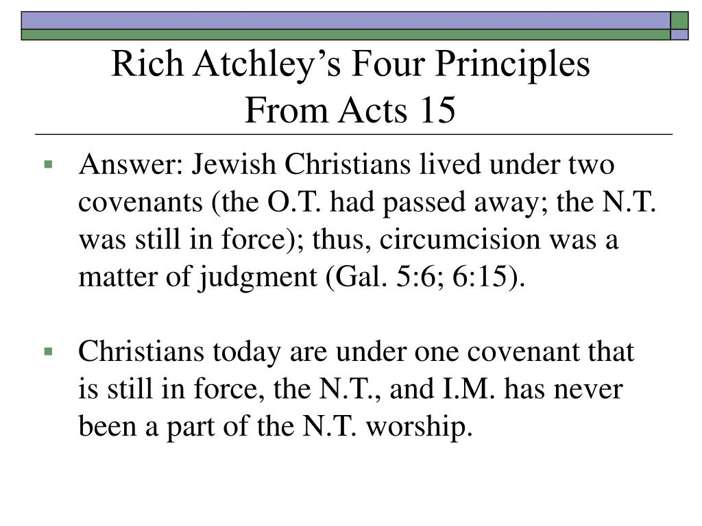 Rich Atchley's Four Principles